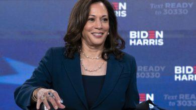 صورة كامالا هاريس تشيد بالنساء في أول خطاب لها بصفتها نائب الرئيس المنتخب في الولايات المتحدة