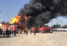صورة العراق: اندلاع حريق في مصفاة نفط إثر سقوط صاروخ بداخلها