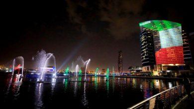 صورة بالصور.. معالم دبي تتزين احتفاء باليوم الوطني الكويتي  حياتنا  جهات