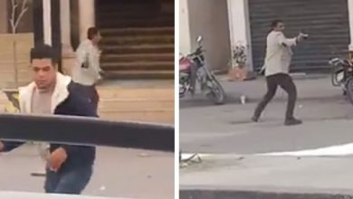 صورة شاهد فيديو صادم لمصري يطلق النار على المارة في الشارع .. والكشف عن دوافعه