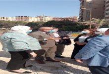 صورة نائب محافظ القاهرة ووفد البرنامج الرئاسي يتفقدان محور شينزو آبي