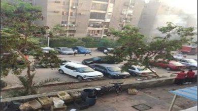 صورة حريق هائل بعقار في مدينة نصر.. صور