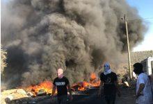 """صورة مسيرة استفزازية للمستوطنين من حاجز زعترة باتجاه """"جبل صبيح"""" في بيتا"""