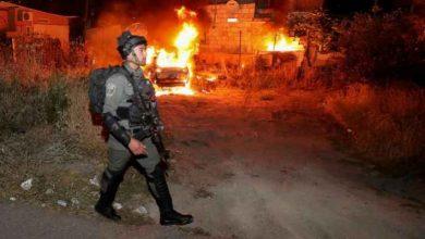 صورة اصابات جراء المواجهات بين الشبان وقوات الاحتلال الإسرائيلي في حي الشيخ جراح