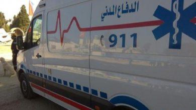 صورة مرج الحمام: وفاة بحادث تصادم بين مركبتين