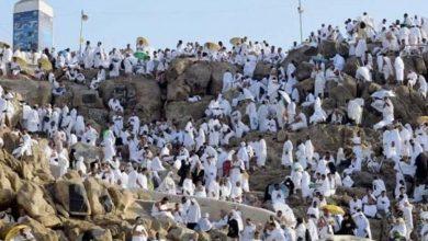 صورة حجاج بيت الله الحرام ينهون أداء مناسك الحج لهذا العام .