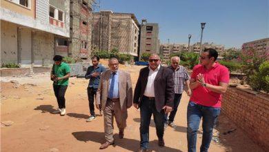 صورة نائب رئيس جامعة الأزهر والأمين العام يتابعان أعمال الصيانة بالمدينة الجامعية