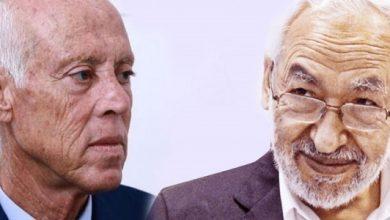 """صورة """"الغنوشي"""" يكشف عن الراعي الرسمي الدولي لانقلاب الرئيس التونسي """"قيس سعيد"""""""