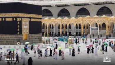 صورة وفود الحجيج يصلون إلى المسجد الحرام لإداء طواف الوداع  أخبار السعودية