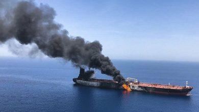 صورة اتصالات إسرائيلية أمريكية بريطانية حول هجوم إيران على السفينة ببحر سلطنة عمان .