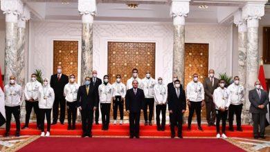 صورة السيسي يُثمن إنجاز أبطال مصر الأولمبيين ويدعوهم لتحقيق إنجاز أكبر .