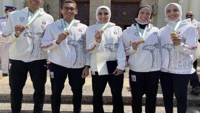صورة الرئيس عبد الفتاح السيسي يُكرم أبطال أولمبياد طوكيو بقصر الاتحادية