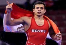 صورة خسارة هيثم محمود في دور الـ16 للمصارعة بالأولمبياد