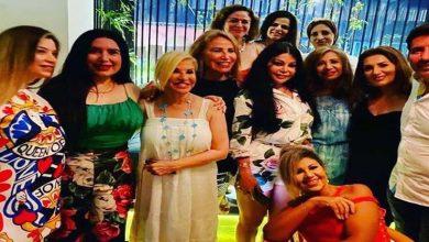 صورة بينهم هيفاء وهبي.. النجوم يحتفلون بعيد ميلاد هالة سرحان (صور وفيديو)