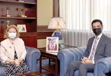 صورة وزير شؤون الكهرباء والماء يستقبل السفيرة التركية