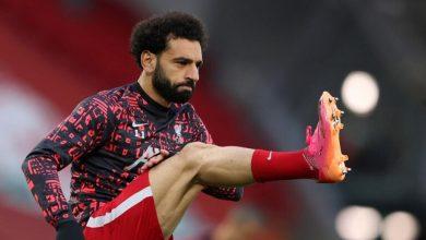 """صورة اللاعب محمد صلاح يتألق في مباراته ضد """"بالاس"""" ."""