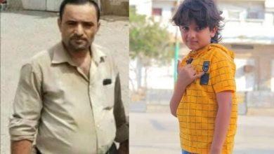 صورة رجل أعمال حوثي يخرج طفل من المدرسة ويعتدي عليه بالضرب (شاهد)