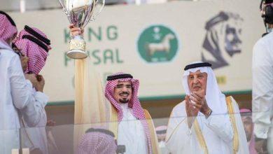 صورة أمير مكة المكرمة يتوّج الفائز بكأس الملك فيصل للخيل العربية  أخبار السعودية