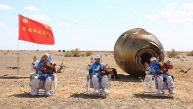 صورة بُناة محطة الفضاء الصينية يعودون إلى الأرض  أخبار السعودية