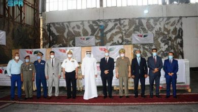 صورة وصول طائرة سعودية إلى تونس تحمل 5 مولدات أكسجين لمكافحة «كورونا»  أخبار السعودية