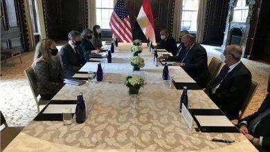 صورة سامح شكري يلتقي نظيره الأمريكي لبحث العلاقات الثنائية والقضايا الإقليمية