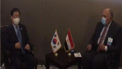 صورة «شكري» يلتقي وزراء خارجية كوريا الجنوبية وتنزانيا وإيطاليا