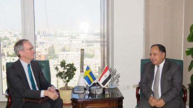 صورة معيط يبحث مع سفير السويد تنشيط السياحة السويدية إلى مصر في الفترة المقبلة