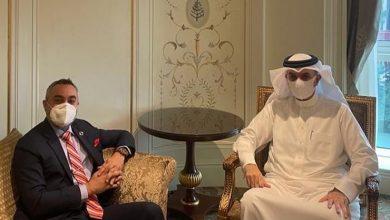صورة سفير مملكة البحرين لدى جمهورية مصر العربية يلتقي مدير المكتب الإقليمي العربي للاتحاد الدولي للاتصالات للدول العربية التابع لمنظمة الأمم المتحدة