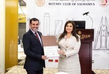 صورة تكريم القعود بوسام شخصية الروتاري السنوية لدورة البارز في خدمة المجتمع