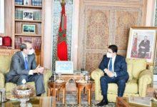 صورة تفاصيل لقاء وزير الثقافة المغربي مع وفد ممثل للجنة اليهودية الأمريكية في الرباط .