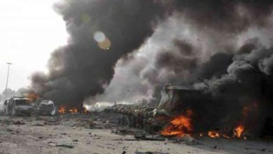 صورة قتلى وجرحى في تفجير حافلة عسكرية وسط العاصمة دمشق
