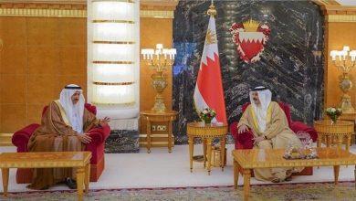 """صورة ملك البحرين يستقبل رئيس """"الاتحادي الإماراتي"""""""