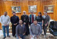صورة الأنبا باسيليوس يلتقي لجنة الشباب الإيبارشي