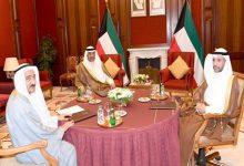 صورة رؤساء السلطات الثلاثة يعقدون اجتماعاً بتكليف من سمو أمير الكويت