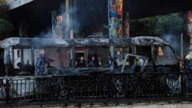 صورة   13 قتيلاً في تفجير استهدف حافلة عسكرية في دمشق