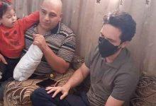 صورة ولي العهد في برما للأطمئنان على صحة العسكري كايد البرماوي  صور